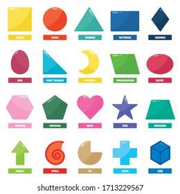 Set Of Basic Geometric Shapes
