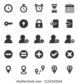 set of basic ui-ux icons, with flat glyph style, use for web, application, software design, user interface, use experience, modern, user frendly, perfect pixel, startup, ecommerce web, contact person