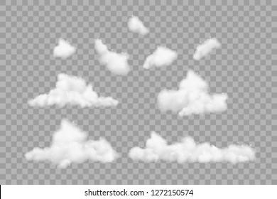 Set of bath foam with shampoo bubbles, isolated.