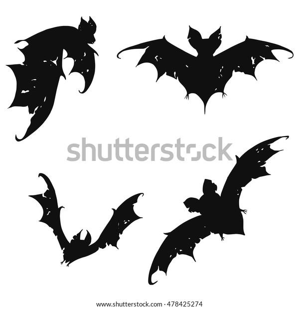 Vetor Stock De Armar Morcegos Colecao De Morcegos Morcegos