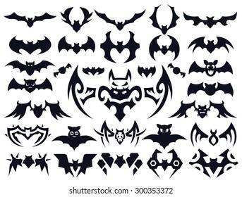 bat tattoo images stock photos vectors shutterstock rh shutterstock com tribal bat tattoo designs Bat Symbol Tattoo