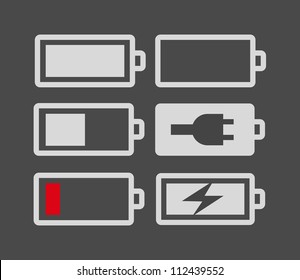Set of battery charge level indicators