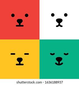 Set of bears face symbol logo design