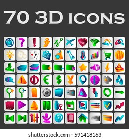 Set of beautiful color icons