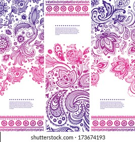 Set of Beautiful floral banners