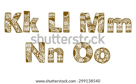 f66edff41ce49 Set Beautiful Letters Floral Ornaments K Stock Vector (Royalty Free ...