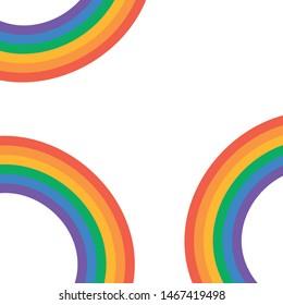 Set of beautiful rainbow illustration. Rainbow vector elements
