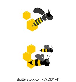 A set of bee icons