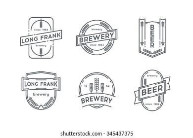 Set of beer labels.Stock vector.