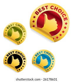 """set of """"best choice"""" stickers"""