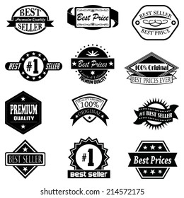 Set of  Best Price & Best Seller badges, labels, and logos