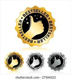 """set of """"BESTSELLER"""" label"""