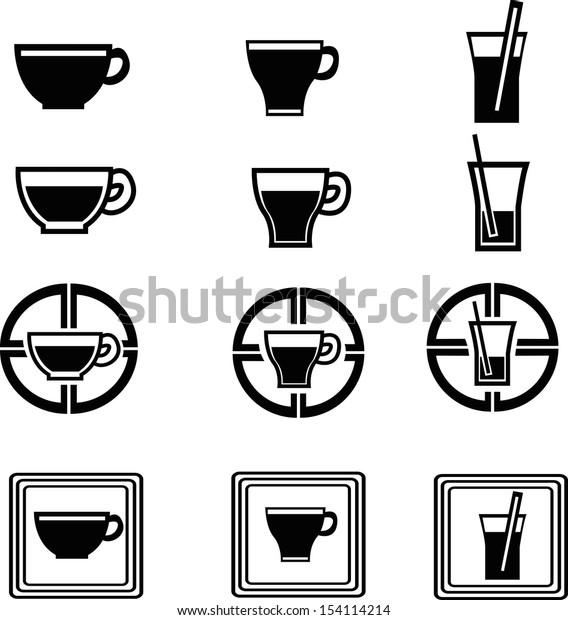 set of beverage icons