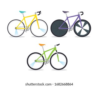 set bikes professional for championship racing vector illustration design