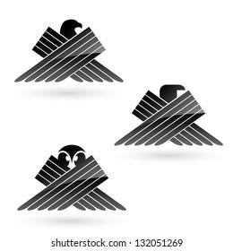 Set of bird symbols - vector illustration