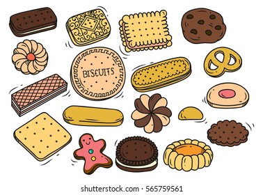 Biscuits Coffee Drawings