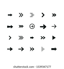 Set of black arrows. Arrows collection. Vector illustration.