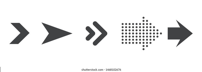 Set of black arrows for graphic,app and website