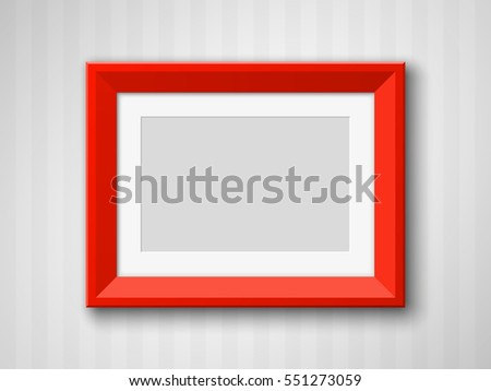 Set Black Blank Picture Frames A 3 Stock Vector Royalty Free