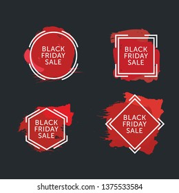 Set of Black Friday Sales Banners. Black Friday Roundel Graphic - Vector