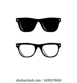 Set of Black Sunglasses vector design template
