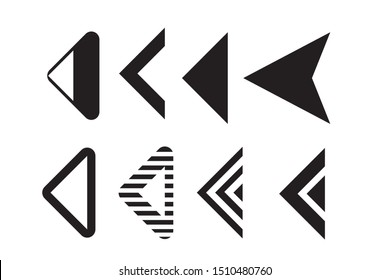Set of black vector arrow.arrow vector illustration and colection.arrows vector icon