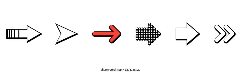 Set of black vector arrows. Arrow icon. Arrow vector icon. Arrow. Arrows vector collection. Eps10