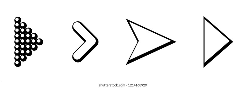 Set of black vector arrows. Arrow icon. Arrow vector icon. Arrow. Arrows vector collection. Eps10