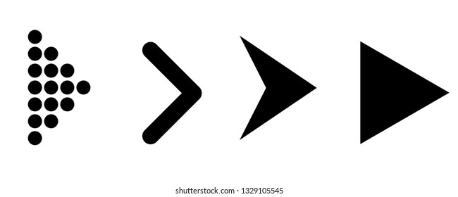 Set of black vector arrows. Arrow icon. Arrow vector icon. Arrow. Arrows vector collection - Vector