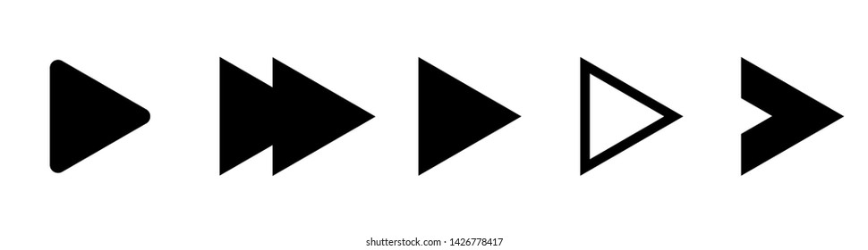 Set of black vector arrows. Arrow icon. Abstract elements for business infographic.  Arrow icons down direction up pointer sign next right left cursor black web interface navigation or website cursor