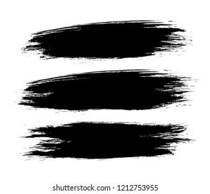set of a black vector grunge backgrounds