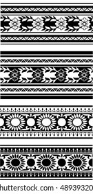 Set from black and white borders