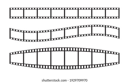 a set of black and white camera roll illustrations for backgrounds or templates. color can be edited