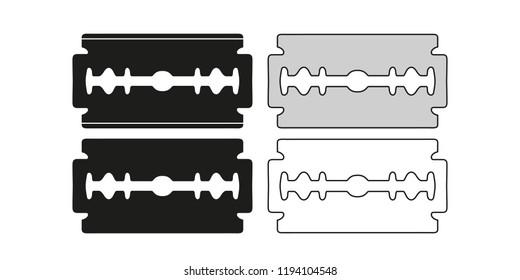Set of blade razor. Vector illustration.