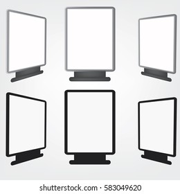 Set blank billboard. Mockup for your advertisement and design.