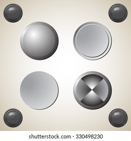 Set of blank grey buttons for website or app. Vector eps10.