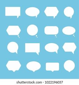 Set of blank speech bubbles set