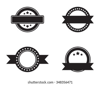 Set of Blank Stamps for Logo - Isolated Illustration