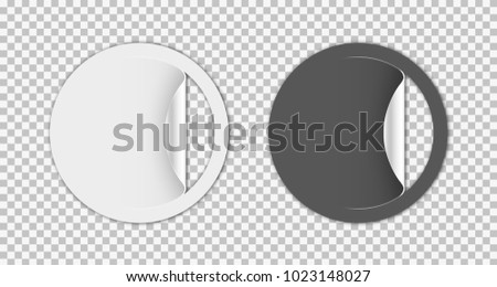 Set Blank Stickers Empty Promotional Labels Stock Vector