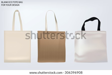 set blank tote bags template your stock vector royalty free
