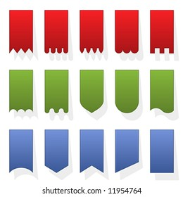 Set of blank vertical banners. Easy to change color (Vector)