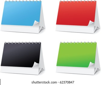 set blanks for Desktop calendars vector