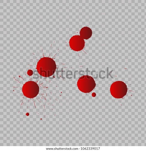 Set of blood drops. Vector
