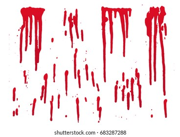 set of blood for halloween decoration, vector illustration