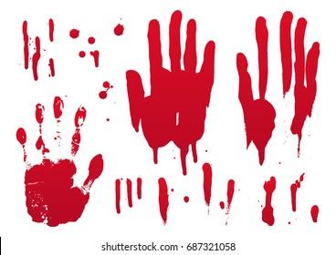 set of blood for halloween decoration, vector illustration, set 3