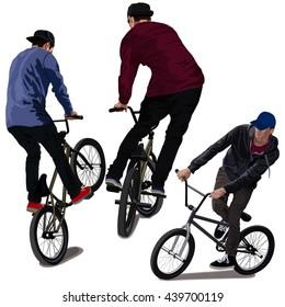 Set of BMX Bikers