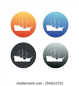 Set of boat and vessel stock vector illustration