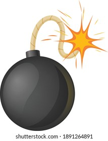 Set of bomb explosion effect, bomb boom. Animation game frames in flat style.