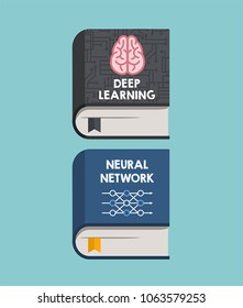 A set of Book Icons for Deep Learning and Neural Networks.