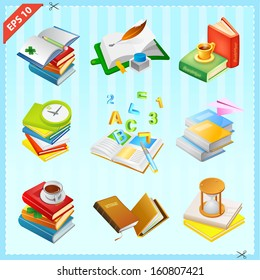 Set of Books Icons Collection 2
